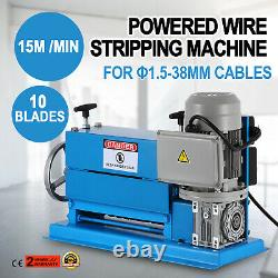 10 Blades Electric Wire Stripping Machine Copper Recycle 1.538mm Cable Stripper