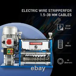10 Blades Electric Wire Stripping Machine Copper Recycle 1.538mm Stripper USED