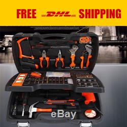 138 PCS Multifunctional Tool Kit Including Drill Sets For Wood, Metal&electricity