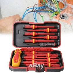 13Pcs Insulated Screwdriver Set Electrical Electrician Hand Tools Kit Durable