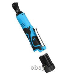 18V 3/8 Cordless Electric Ratchet Right Angle Wrench with 2 x 8000mAh Batteries