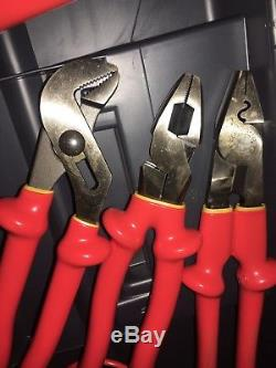 18-Pc. Mixed Lot of Cementex Electrical Insulated Hand Tools With Tool Box