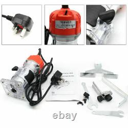 1/4'' Electric Hand Trimmer Wood Laminate Palm Router Joiner Tool 580W 30000RPM