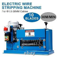 1.5mm38mm 370W Copper Recycle Electric Cable Stripper Wire Stripping Machine