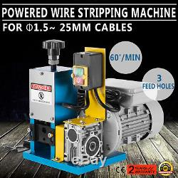 220V Powered Electric Wire Stripping Machine Cable Stripper Portable 1.5-25mm