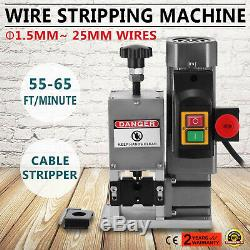 220V Powered Electric Wire Stripping Machine Scrap Portable Copper 1.5-25mm