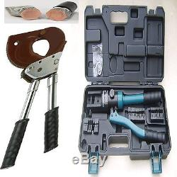 300mm Hydraulic Crimpers Battery LUG Crimping 750mm RATCHET CABLE CUTTERS