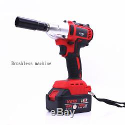 360n. M Torque 68V Autos Brushless Electric Impact Wrench + Adaptor Kit Universal