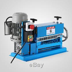 370W Powered Electric Wire Stripping Machine 10 Blades Metal Cable Portable 220V