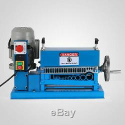 370W Powered Electric Wire Stripping Machine 10 Blades Metal Cable Scrap 220V