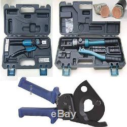 4-300mm Hydraulic Crimper Crimping Ratchet Cable Cutter Battery Wire ...