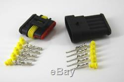 5 Way 12V Sealed Waterproof Electrical Connector Kit