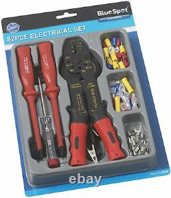 82pce Electrical Screw Driver, Crimping tool, And Electrical bullet Connector Set