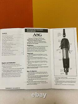 ASG / HIOS SS-4000 ESD 0.9 to 4.0 lbf/in, 4mm, Electric Screwdriver. New in Box