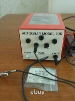 Actograp Etching Tool Engraver Electric Heavy Duty Engraving ACTOGRAP MODEL 100