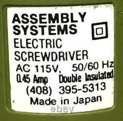 Assembly Systems 1600q Electric Screwdriver 115 Vac