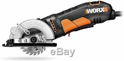 Compact Electric Circular Saw Corded Worxsaw 85mm Compact Cutting Hand Tool New