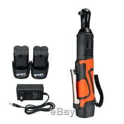 Cordless 3/8 Electric 18V 60N. M Ratchet Wrench Tool 2 x Battery & Charger Kit