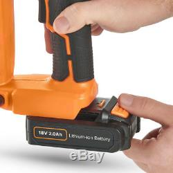 Cordless Nail Staple Gun Heavy Duty Electric Hand Power Tool with Battery Charger