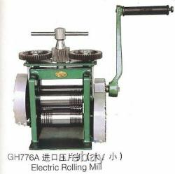 Durable Metal Electric Rolling Mill Hand Operate Jewelry Mold Tool Equipment New