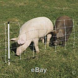 Electric Fence Netting for Domestic Pigs with Vertical Plastic Struts (30x 100')