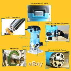 Electric Hand Trimmer Wood Laminate Palm Router Woodworking Power Tool 600W