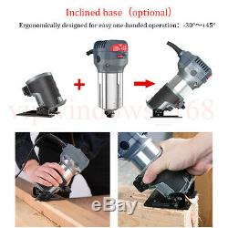 Electric Router Hand Trimmer Tool Compact Kit Variable Speed 10000-32000RPM 220V