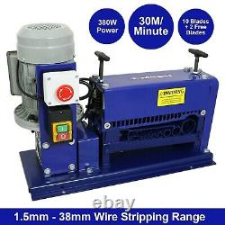 Electric Wire Stripping Machine Automatic Cable Stripper Powered Copper B0187