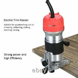 Electric Wood Trim Trimmer Router 800W Hand Carving Machine Woodworking Tool