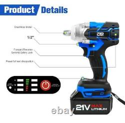 Electric Wrench Socket Rechargeable 220V Cordless Impact Hand Drill Power Tools