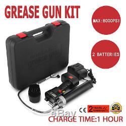 Electrical Grease Gun Cordless Battery 18V Bulk Fill 8000PSI With 2 Batteries