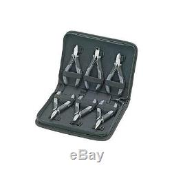 Electronics Pliers & Case Set 6pc Electrical Data Knipex Trade Quality Tools
