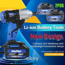 Factory Price Portable Use Hand Tools Electric Impact Wrench Two Li-Ion Battery