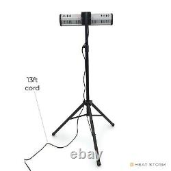 Heat Storm Indoor/Outdoor Electric Infrared Heater with Tripod & wallmount, 1500W