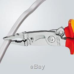 KNIPEX 13 96 200 VDE pliers for electrical installation, with 6 functions, 200