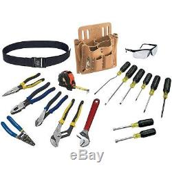 Klein Tools Journeyman Pliers Wrench Screwdriver 18 pc. Electrical Hand Tool Set