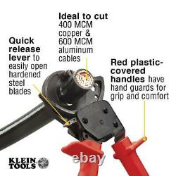 Klein Tools Ratcheting Cable Cutter 10 1/4 inch Wire Electrical Cutting Tool Cut