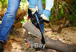 Long Reach Electric Chainsaw for Trimming Trees with 10-Foot Pole Attachment