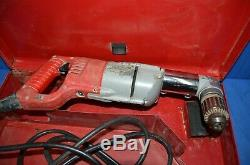 Milwaukee 1/2 Drill 1007-1 Heavy Duty Electric Right Angle Hand Tool With Bits