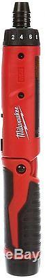 Milwaukee Cordless Electric 1/4 in. Hex Screwdriver M4 Hand Tool 2-Battery Kit