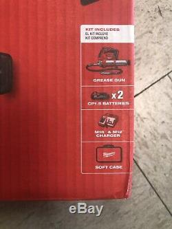 Milwaukee Electric 2646-22Ct M18 2 Speed Grease Gun Two Battery Kit NEW IN BOX