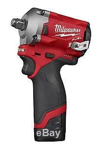 Milwaukee Electric Tool 2555-22 M12 Fuel Stubby 1/2 Impact Wrench Kit