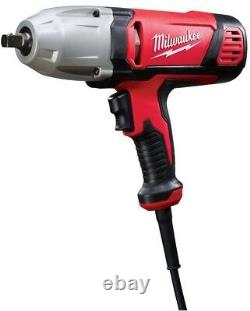 Milwaukee Impact Wrench Electric Corded 1/2 in Detent Pin Socket Retention