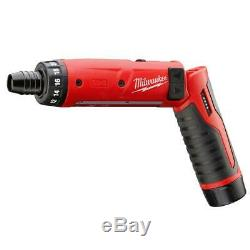 Milwaukee M4 Cordless Electric 1/4 in. Hex Screwdriver with 4V Li-Ion Battery Kit