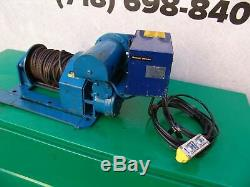 My-Te model 100A 1000/2000 lbs Electric Winch 120 Volts Hoist Works Fine