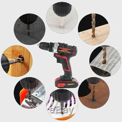 Powerful Cordless Combi Drill Driver Electric Screwdriver Fast Charger Drill Set