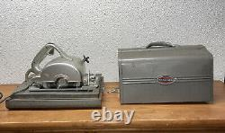 RARE VINTAGE CRAFTSMAN 6 1/2 ELECTRIC HAND SAW Mod# 207.25530 WithCASE