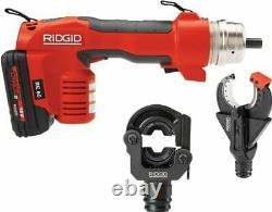RIDGID Re 60 Electrical Tool 2 Heads, Charger 43628 Crimper Press Cutter Shear