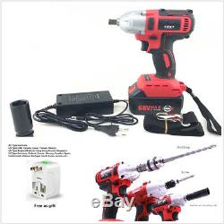 Rechargeable 360n. M 68V Car Autos Brushless Electric Impact Wrench + Adaptor Kit