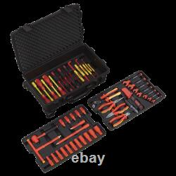 Sealey AK7938 1000V Insulated Electrical Tool Kit 3/8 Drive 50pc SPR21